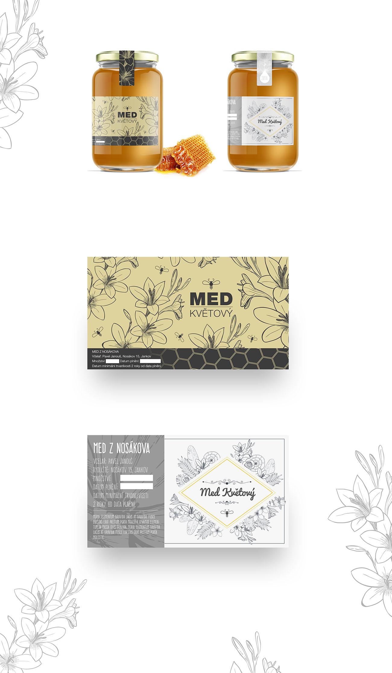 Med z Nosákova - obalový design