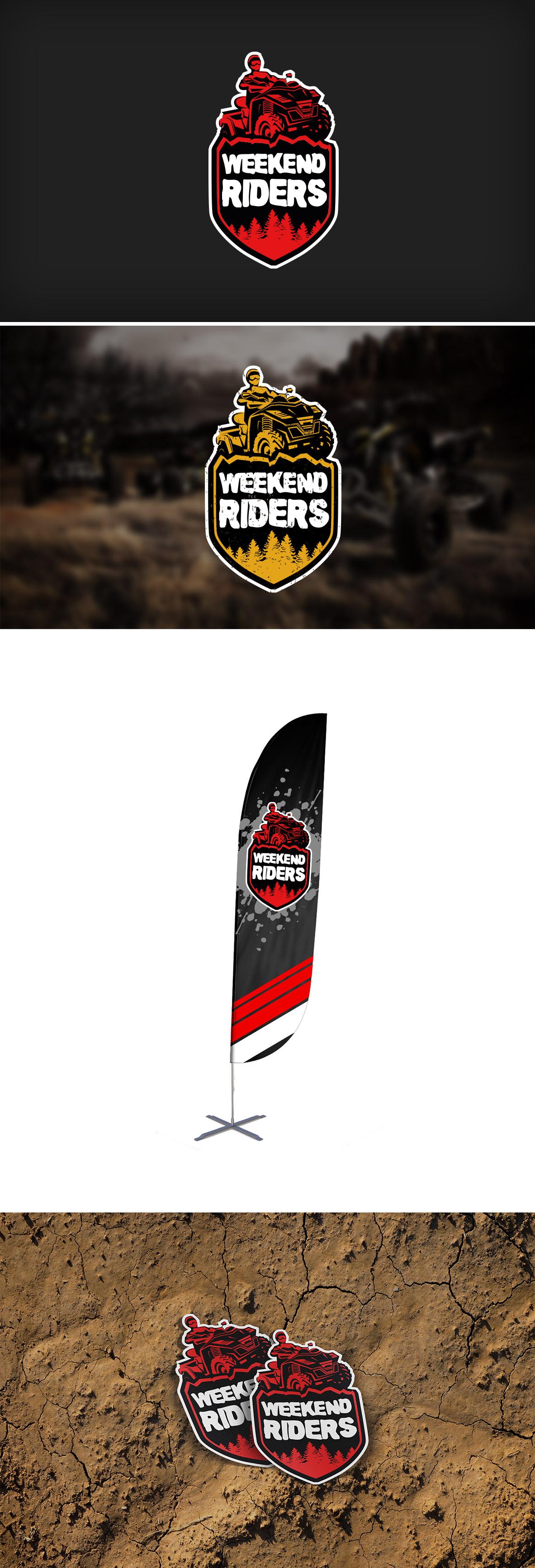 Weekend riders logo design Lukáš Kejha